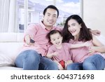 picture of asian family... | Shutterstock . vector #604371698
