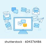 vector illustration in flat... | Shutterstock .eps vector #604376486