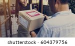 delivery courier freight... | Shutterstock . vector #604379756