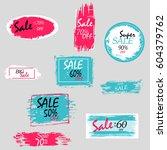 geometrical social media sale... | Shutterstock .eps vector #604379762