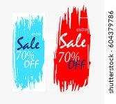 rectangle social media sale... | Shutterstock .eps vector #604379786