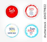 round social media sale banners ... | Shutterstock .eps vector #604379822