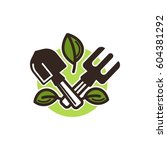 small garden shovel and... | Shutterstock .eps vector #604381292