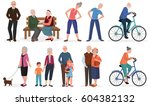 old people in different... | Shutterstock . vector #604382132