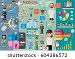 medical infographic elements... | Shutterstock .eps vector #604386572