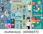 medical infographic elements... | Shutterstock .eps vector #604386572