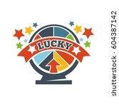 lottery roulette or wheel of... | Shutterstock .eps vector #604387142
