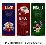 bingo lotto lottery banners... | Shutterstock .eps vector #604387148