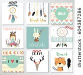 card template collection for... | Shutterstock .eps vector #604387286