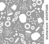 seamless pattern with science... | Shutterstock .eps vector #604395686