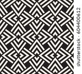 geometric ornament with striped ... | Shutterstock .eps vector #604400612