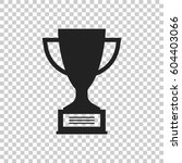 trophy cup flat vector icon....