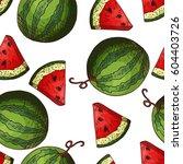 sketched fruits background.... | Shutterstock .eps vector #604403726