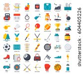 sport and fitness  vector icons ... | Shutterstock .eps vector #604405226