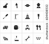 set of 16 editable construction ...