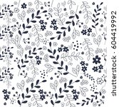 seamless pattern floral vector | Shutterstock .eps vector #604419992