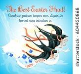 easter egg hunt celebration... | Shutterstock .eps vector #604420868