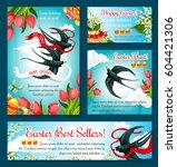 easter egg hunt festive banner...   Shutterstock .eps vector #604421306