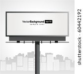 billboard with urban horizon... | Shutterstock .eps vector #60442192