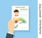 credit score document. man... | Shutterstock .eps vector #604427552