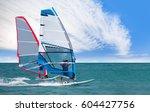 windsurfing  cesme izmir | Shutterstock . vector #604427756