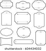 decorative vintage graphic... | Shutterstock .eps vector #604434032