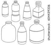 vector set of bottle | Shutterstock .eps vector #604439336