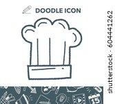 doodle chef hat | Shutterstock .eps vector #604441262