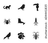 set of 9 editable nature icons. ...