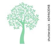 vector icon tree illustration... | Shutterstock .eps vector #604463048