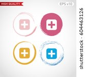 colored icon of plus symbol... | Shutterstock .eps vector #604463126