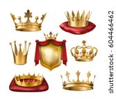 set of vector icons of royal... | Shutterstock .eps vector #604466462