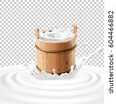 vector illustration of a wooden ...   Shutterstock .eps vector #604466882