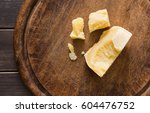 cheese delikatessen pieces on... | Shutterstock . vector #604476752