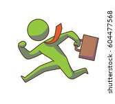 vector business icon with a... | Shutterstock .eps vector #604477568