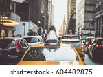 yellow cabs in new york city | Shutterstock . vector #604482875