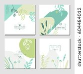 set of business card template... | Shutterstock .eps vector #604484012