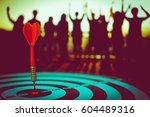 target hit in the center by...   Shutterstock . vector #604489316