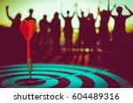 bullseye is a target of... | Shutterstock . vector #604489316