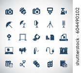 camera and photography icon set | Shutterstock .eps vector #604490102