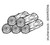 vector logs of firewood... | Shutterstock .eps vector #604490546