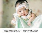 cute baby | Shutterstock . vector #604495202