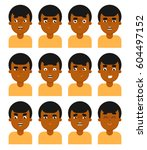 people face emotional icon... | Shutterstock . vector #604497152