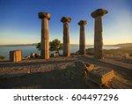 assos antique city canakkale... | Shutterstock . vector #604497296
