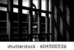 prison bars and a hallway 3d... | Shutterstock . vector #604500536
