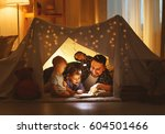 happy family father and... | Shutterstock . vector #604501466