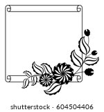 paper roll  with flowers... | Shutterstock .eps vector #604504406