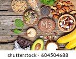 healthy diet eating concept.... | Shutterstock . vector #604504688