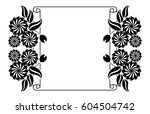 paper roll  with flowers... | Shutterstock .eps vector #604504742