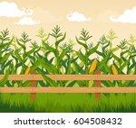 corn field | Shutterstock .eps vector #604508432